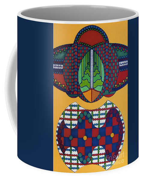 Abstract Coffee Mug featuring the drawing Rfb0401 by Robert F Battles