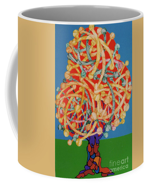 Apple Tree Coffee Mug featuring the drawing Rfb0504 by Robert F Battles
