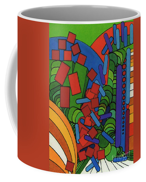 Abstract Alleyway Coffee Mug featuring the drawing Rfb0543 by Robert F Battles