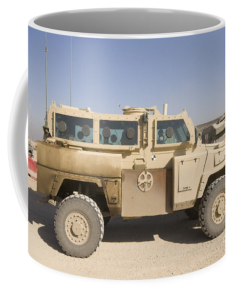 Camp Warhorse Coffee Mug featuring the photograph Rg-31 Nyala Armored Vehicle by Terry Moore