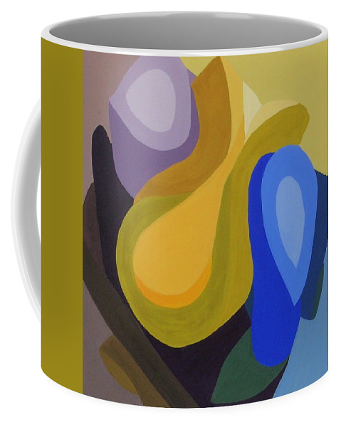 Abstract Coffee Mug featuring the painting Rhapsody In Color by Cori Solomon