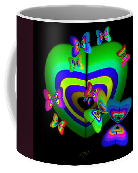 Coffee Mug featuring the digital art Rhapsody In Green by Charles Stuart