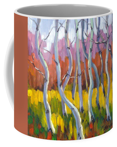 Art Coffee Mug featuring the painting Rhapsody No 5 by Richard T Pranke