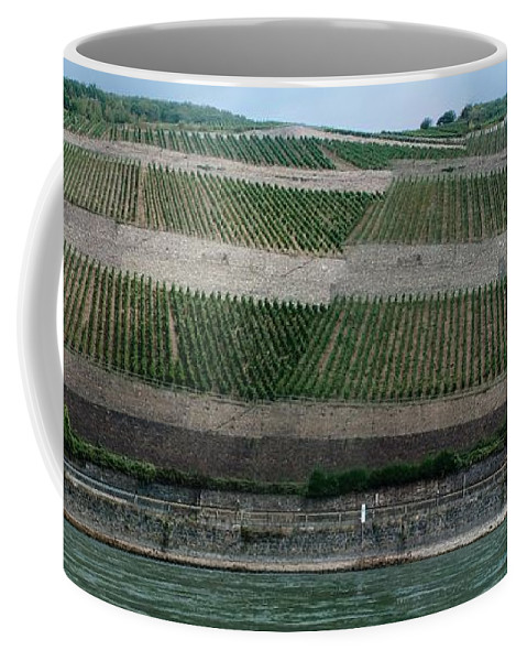 Rhine Coffee Mug featuring the photograph Rhine Valley Vineyards Panorama by Thomas Marchessault