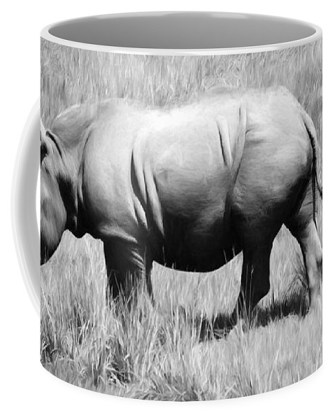 Alicegipsonphotographs Coffee Mug featuring the photograph Rhino In The Grasses by Alice Gipson