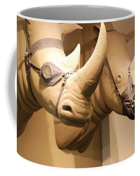 Macro Coffee Mug featuring the photograph Rhinos by Rob Hans