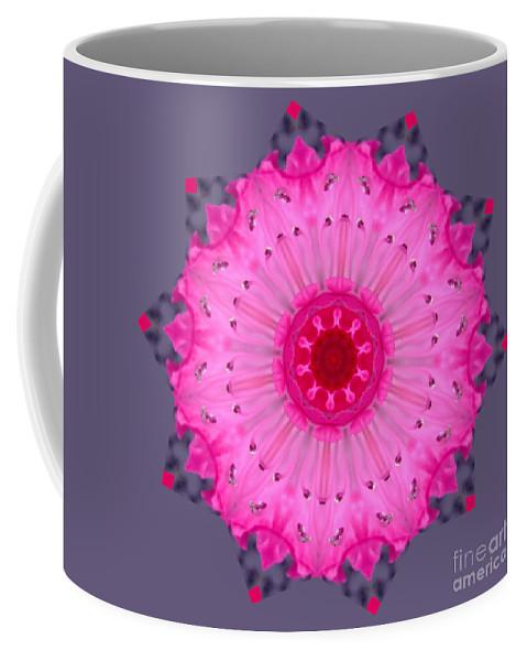 Buddhism Coffee Mug featuring the digital art Rhoda Mandala by Julia Underwood