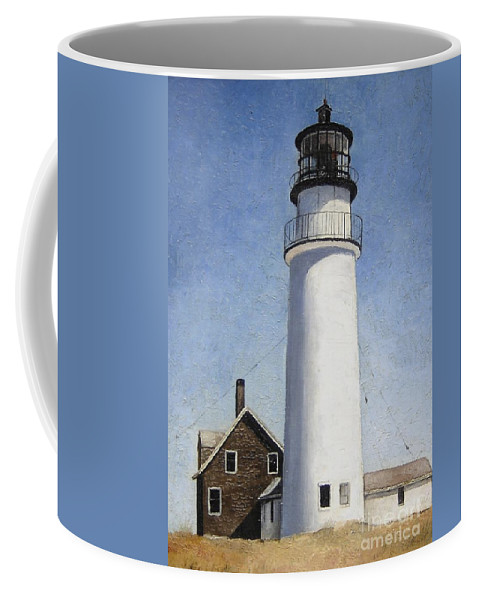Lighthouse Coffee Mug featuring the painting Cape Cod Light by Mary Rogers