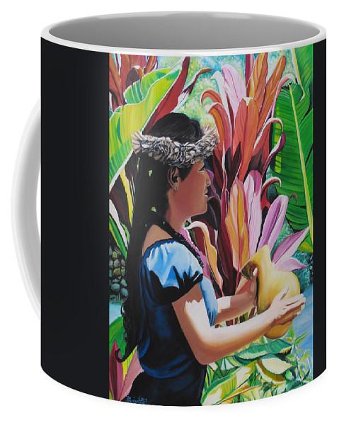 Rhythm Coffee Mug featuring the painting Rhythm Of The Hula by Marionette Taboniar