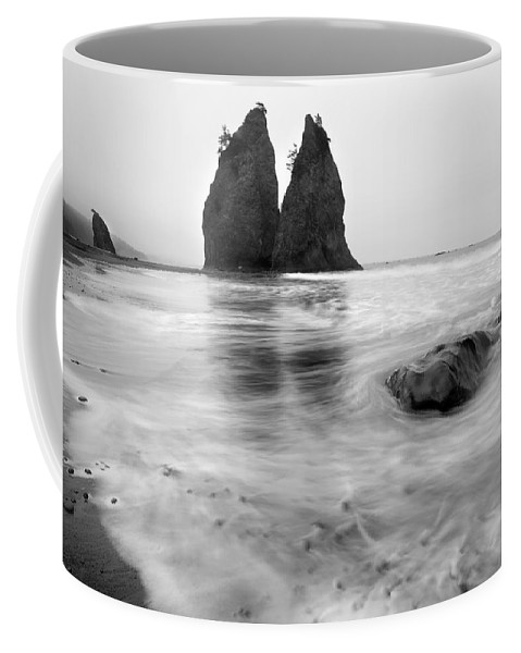 Beach Coffee Mug featuring the photograph Rialto Reflections by Mike Dawson