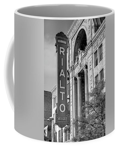 Theater Coffee Mug featuring the photograph Rialto Square Theater by Jim Cole