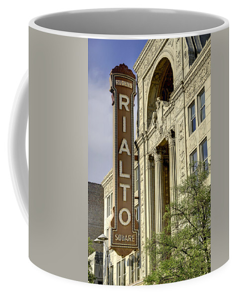 Theater Coffee Mug featuring the photograph Rialto Theater by Jim Cole