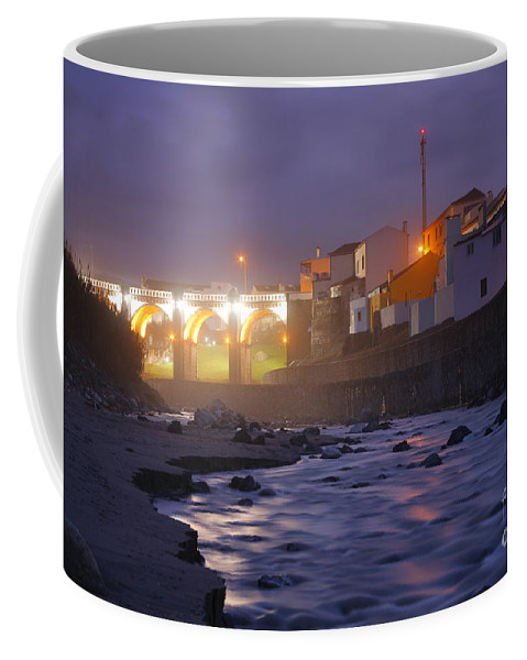 Ribeira Grande Coffee Mug featuring the photograph Ribeira Grande At Night by Gaspar Avila