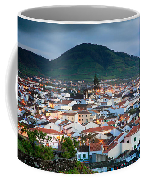Europe Coffee Mug featuring the photograph Ribeira Grande At Nightfall by Gaspar Avila
