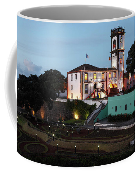 Azores Coffee Mug featuring the photograph Ribeira Grande Town Hall by Gaspar Avila