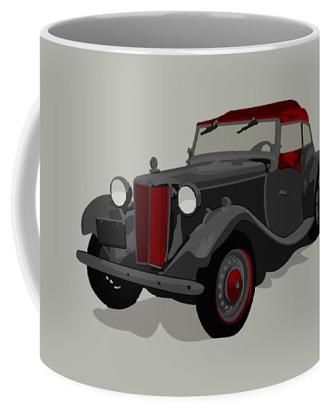 Car Coffee Mug featuring the digital art Ride Black by John Berndt