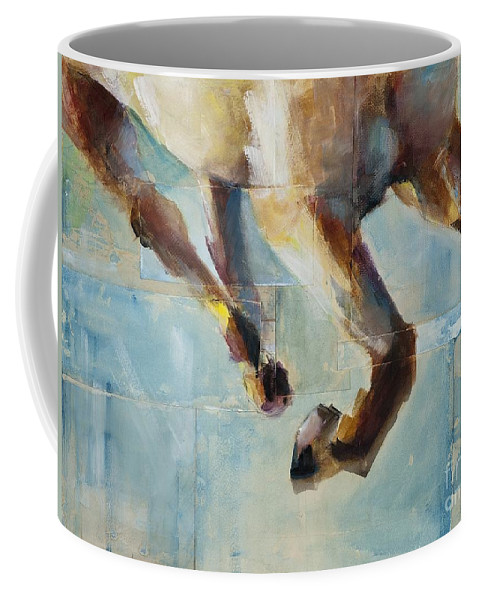 Horses Coffee Mug featuring the painting Ride Like You Stole It by Frances Marino