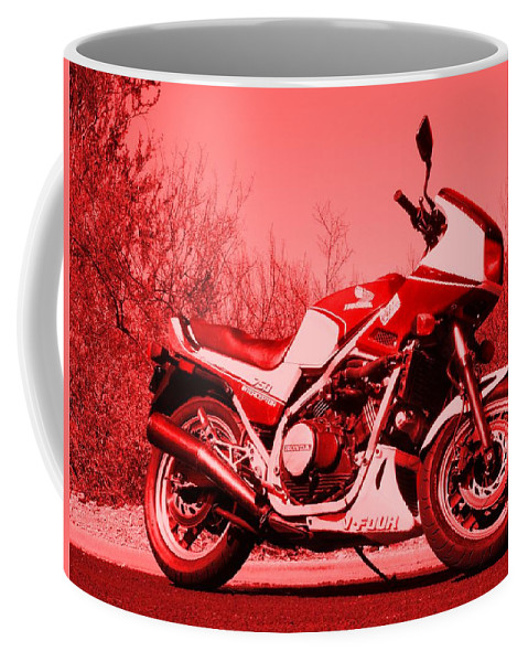 Motorcycle Coffee Mug featuring the photograph Ride Red by David S Reynolds