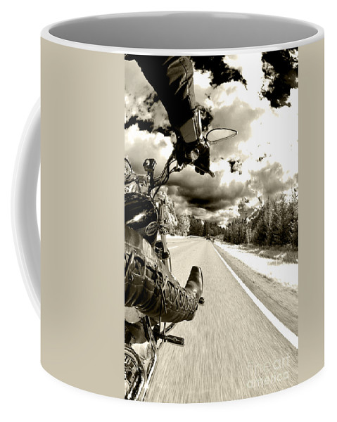 Harley Coffee Mug featuring the photograph Ride To Live by Micah May