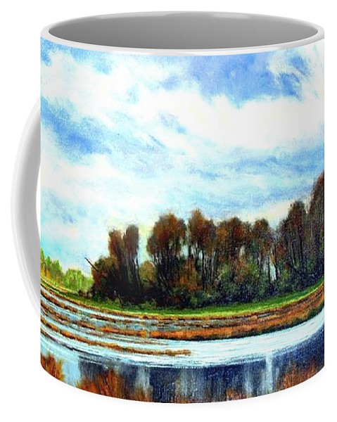 Landscapes Coffee Mug featuring the painting Ridgefield Refuge Early Fall by Jim Gola