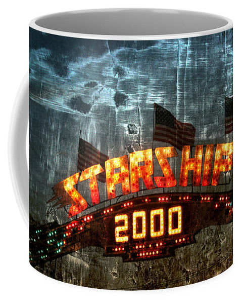 Carnival Coffee Mug featuring the photograph Night Ride On The Starship by Toni Hopper