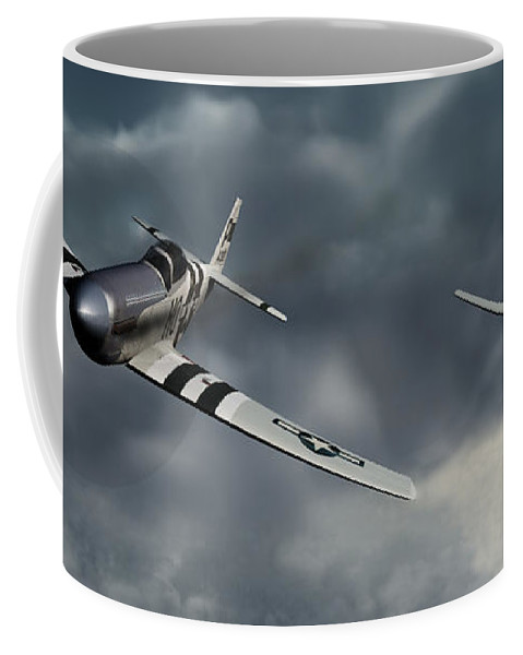 Warbirds Coffee Mug featuring the digital art Riding The Storm by Richard Rizzo