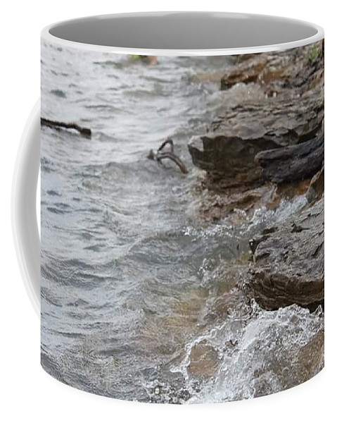Coffee Mug featuring the photograph Little Waves by Krysti Willson
