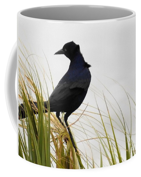 Birds Coffee Mug featuring the photograph Riding The Wind by Jan Gelders