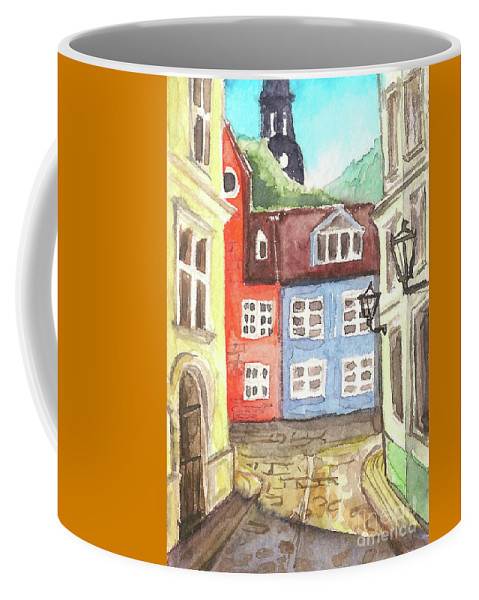 Riga Coffee Mug featuring the painting Riga by Yana Sadykova