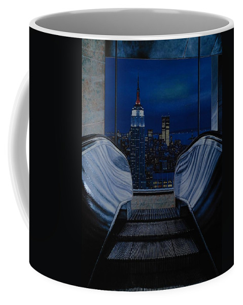 Lithograph Coffee Mug featuring the photograph Right To The Top by Rob Hans