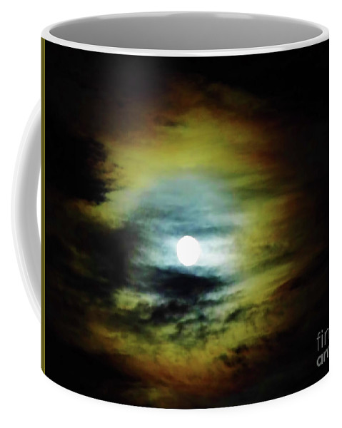 Moon Coffee Mug featuring the photograph Ring Around The Moon by D Hackett