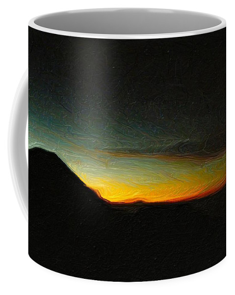 Ubud Coffee Mug featuring the photograph Rinjani Sunset by Jamie Johnson