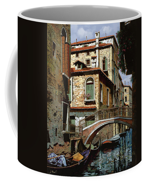 Venice Coffee Mug featuring the painting Rio Degli Squeri by Guido Borelli