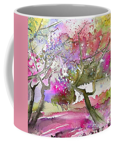 Spain Rioja Painting Travel Sketch Water Colour Miki Coffee Mug featuring the painting Rioja Spain 02 by Miki De Goodaboom