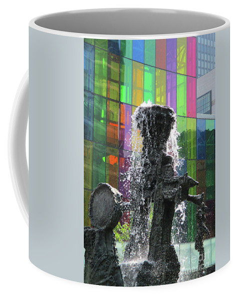 Montreal Coffee Mug featuring the photograph Riopelle Square 2 by Randall Weidner