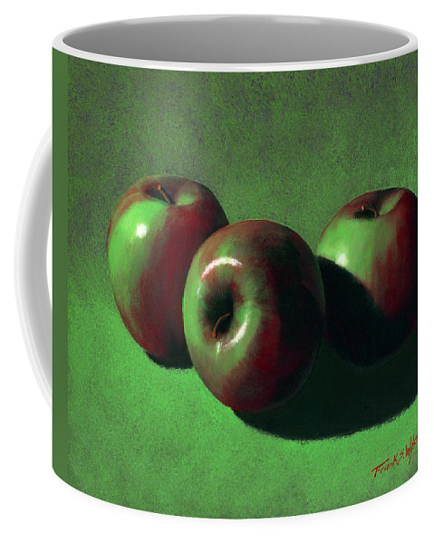 Still Life Coffee Mug featuring the painting Ripe Apples by Frank Wilson