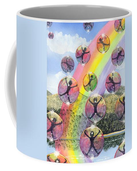 Bubbles Coffee Mug featuring the painting Rising Above It All by Catherine G McElroy