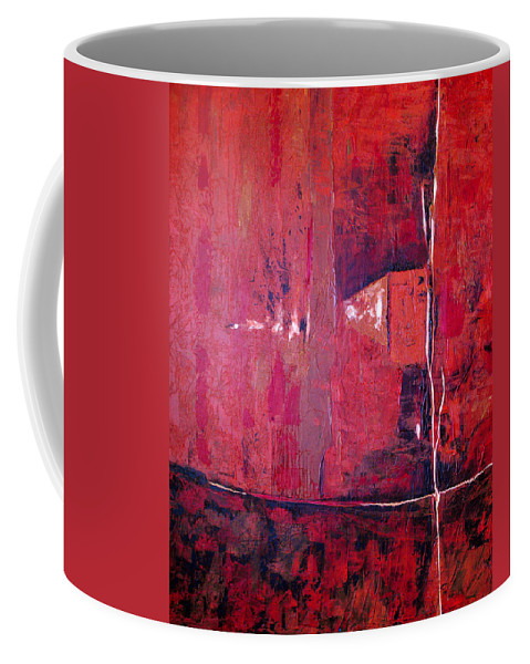 Abstract Coffee Mug featuring the painting Risky Business by Ruth Palmer