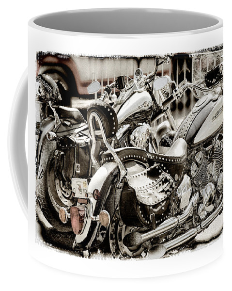 Yamaha Coffee Mug featuring the photograph Rivals by Mal Bray