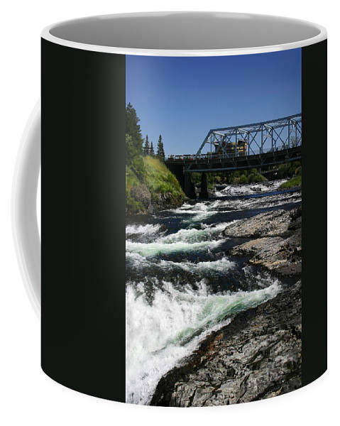 River Coffee Mug featuring the photograph River Bridge by Anthony Jones