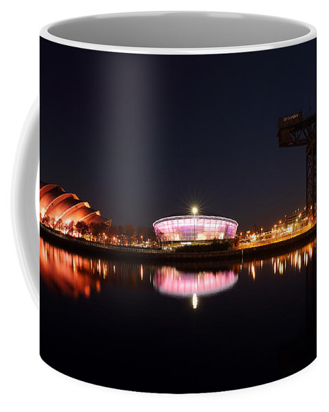 Hydro Arena Coffee Mug featuring the photograph River Clyde Night by Grant Glendinning