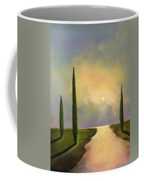 Trees Coffee Mug featuring the painting River Dreams by Toni Grote