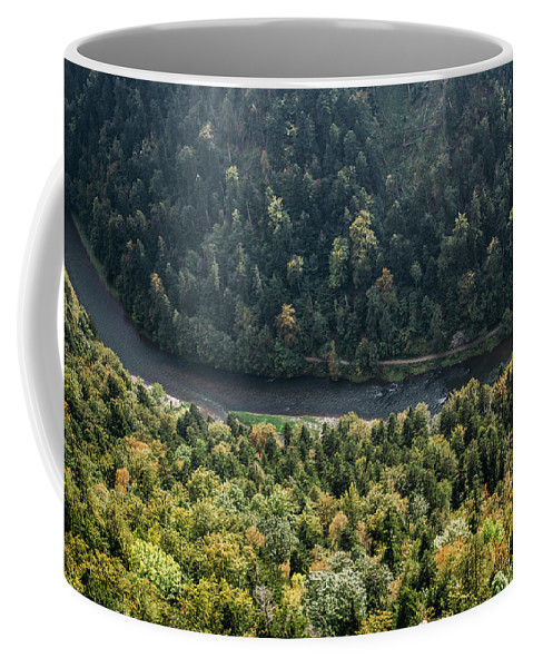 River Coffee Mug featuring the photograph River Dunajec In Pieniny Mountains by Pati Photography