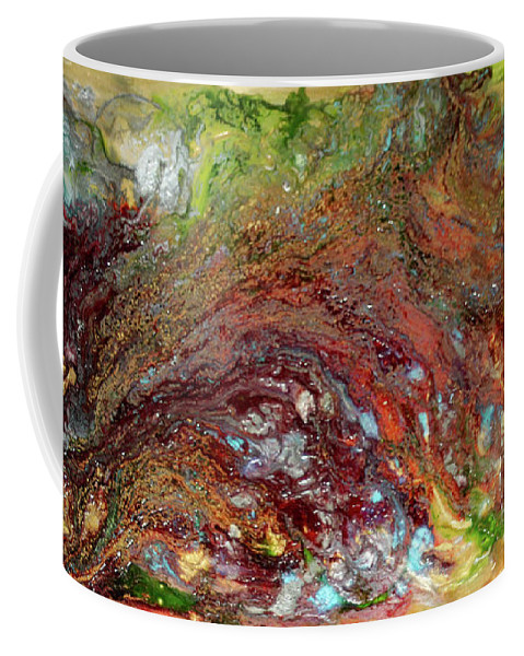 Abstract In Red Coffee Mug featuring the painting River Of Color by Kathleen McKenna