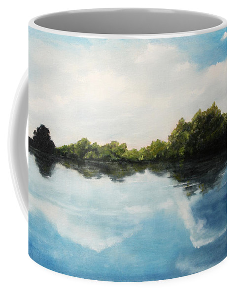 Landscape Coffee Mug featuring the painting River of Dreams by Darko Topalski