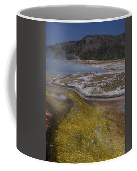 Geyser Coffee Mug featuring the photograph River Of Gold by Gale Cochran-Smith