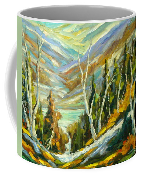 Water Coffee Mug featuring the painting River Of Life by Richard T Pranke