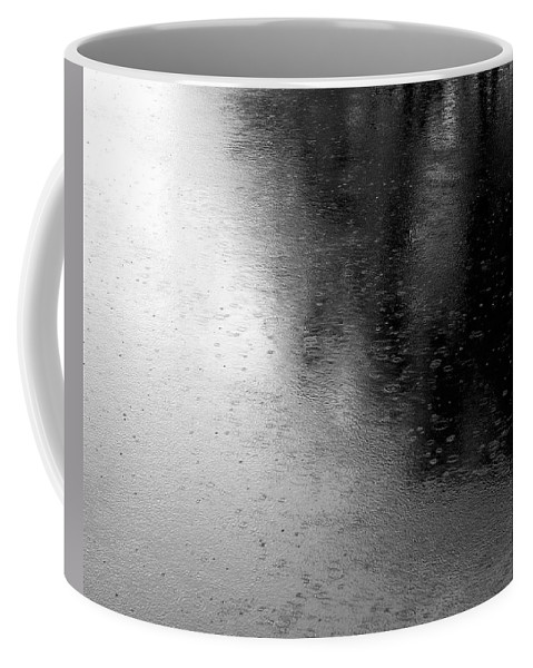 River Coffee Mug featuring the photograph River Rain Naperville Illinois by Michael Bessler