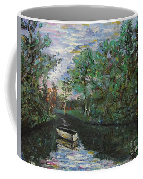River Reflections Coffee Mug featuring the painting River Reflections by Rich Donadio