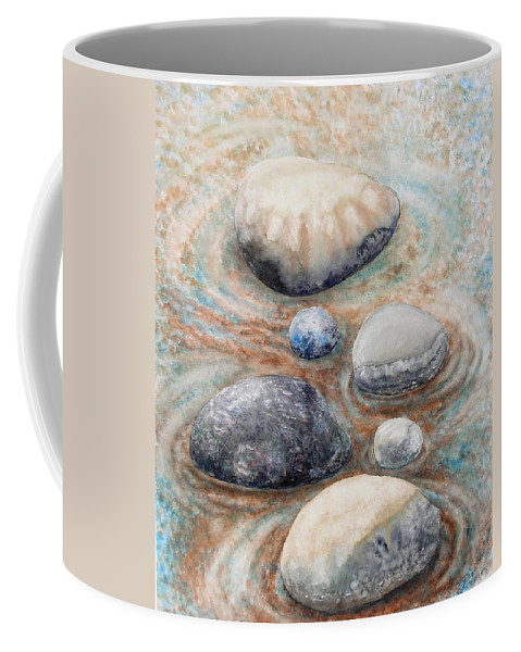 Abstract Coffee Mug featuring the painting River Rock 2 by Valerie Meotti